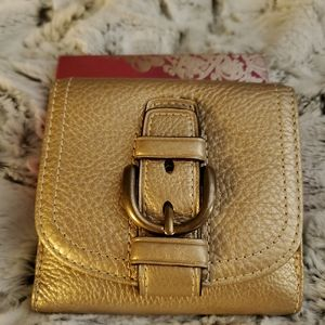 Coach wallet- Gold tone